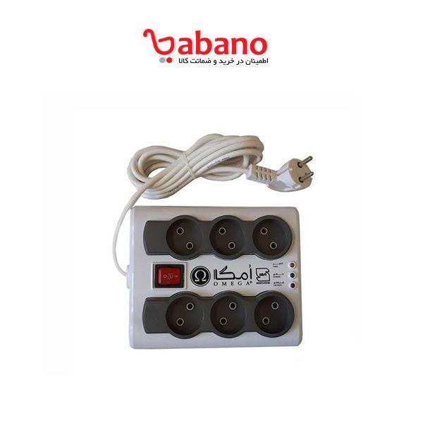 چندراهی و محافظ برق OMEGA P6000 - کابل 3 متر