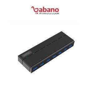 هاب 7 پورت USB3.0 آداپتور دار یونیتک Y-3184