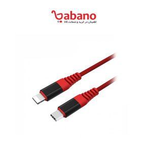 کابل تبدیل USB-C به لایتنینگ یونیتک مدل Y-C4048RD طول 1 متر