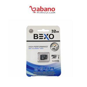 کارت حافظه microsd BEXO ظرفیت 32 گیگ سرعت 45mbs