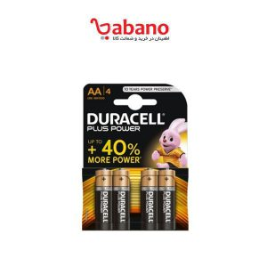 باتری قلمی Duracell مدل Plus Power Duralock بسته 4 عددی