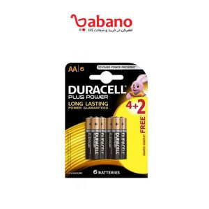 باتری قلمی Duracell مدل Plus Power Duralock بسته 6 عددی