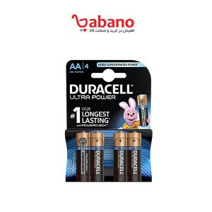 باتری قلمی duracell مدل Ultra Power Duralock بسته 4 عددی