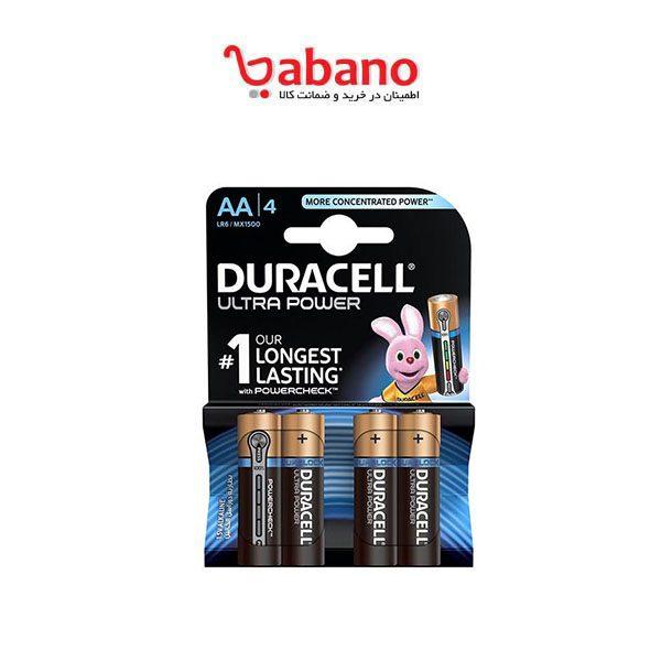 باتری قلمی duracell مدل Ultra Power Duralock بسته 4 عددی