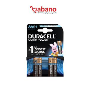 باتری نیم قلمی Duracell مدل Ultra Power Duralock بسته 4 عددی