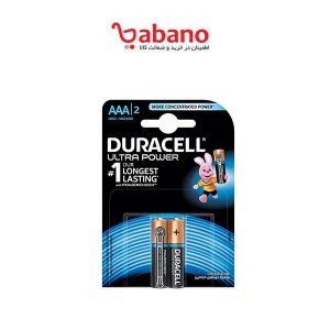 باتری نیم قلمی duracell مدل ultra power Duralock بسته 2 عددی