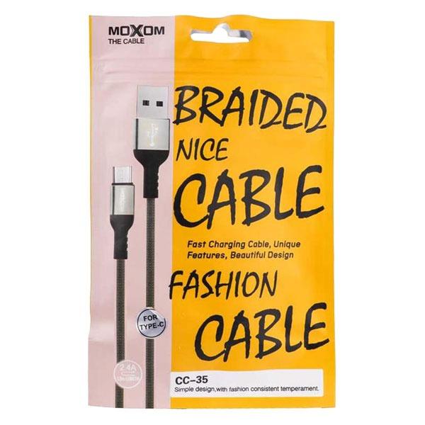 کابل تبدیل USB به Moxom microUSB مدل CC-35 طول 1 متر