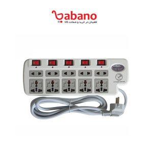 چندراهی برق و محافظ ایکس پی پروداکت مدل 10PORT