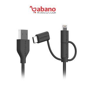 کابل تبدیل USB به لایتنینگ/ USB-C/ microUSB راو پاور مدل RP-CB021