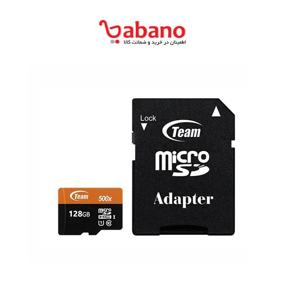 کارت حافظه microSDXC تیم گروپ ظرفیت ۱۲۸ گیگابایت 500X
