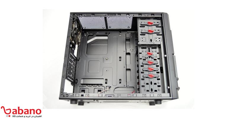 مرحله هفتم برای ساخت کامپیوتر:مادربرد را درون کیس نصب کنید: