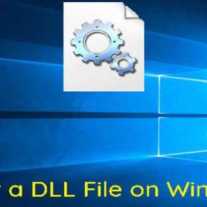 ثبت پرونده DLL در ویندوز چگونه است؟استفاده از Run و cmd