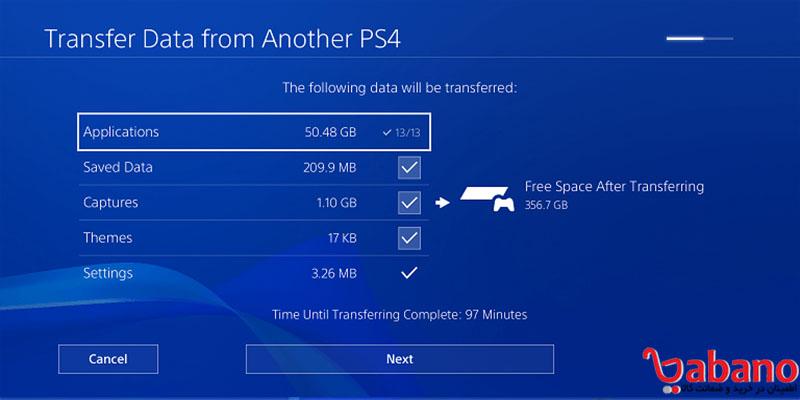 انتقال اطلاعات از ps4 به PS4 Pro