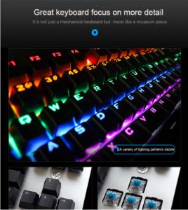 کیبورد گیمینگ با سیم HP GK400F RGB MECHANICAL GAMING KEYBOARD
