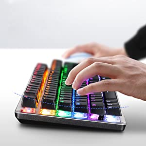 کیبورد گیمینگ باسیم HP GK100F RGB MECHANICAL GAMING KEYBOARD
