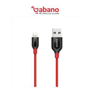 کابل تبدیل USB به لایتنینگ انکر مدل A8121 PowerLine Plus طول 0.9 متر RED