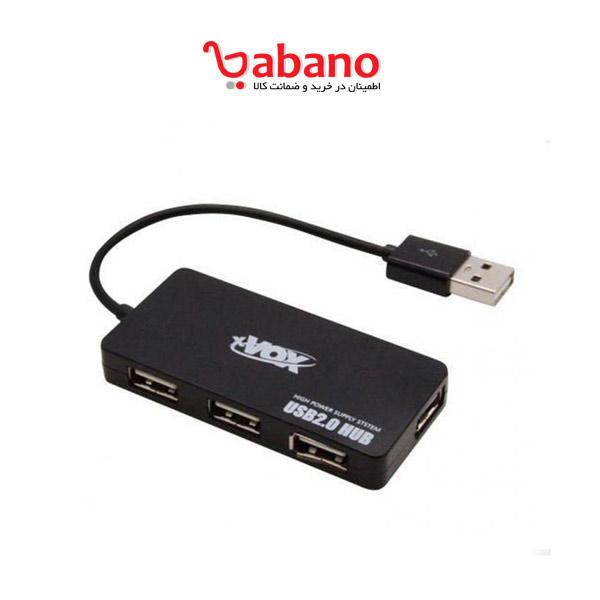 هاب 4 پورت USB.20 اکس وکس مدل X-800