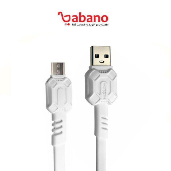 کابل تبدیل USB به microUSB موکسوم مدل MX-CB25 طول 1 متر