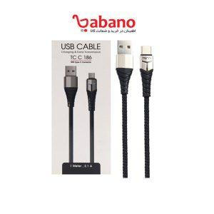 کابل تبدیل USB به USB-C تسکو مدل TC C186 طول 1 متر