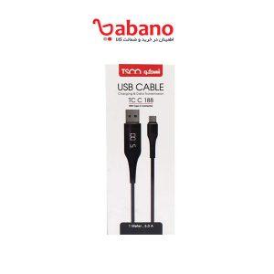 کابل شارژ تایپ C تسکو مدل TSCO TC C 188 Type C Cable
